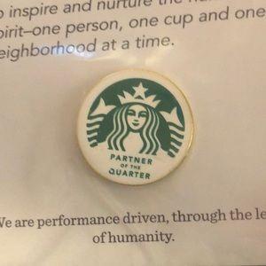NEW Starbucks Partner of Quarter Pin POQ